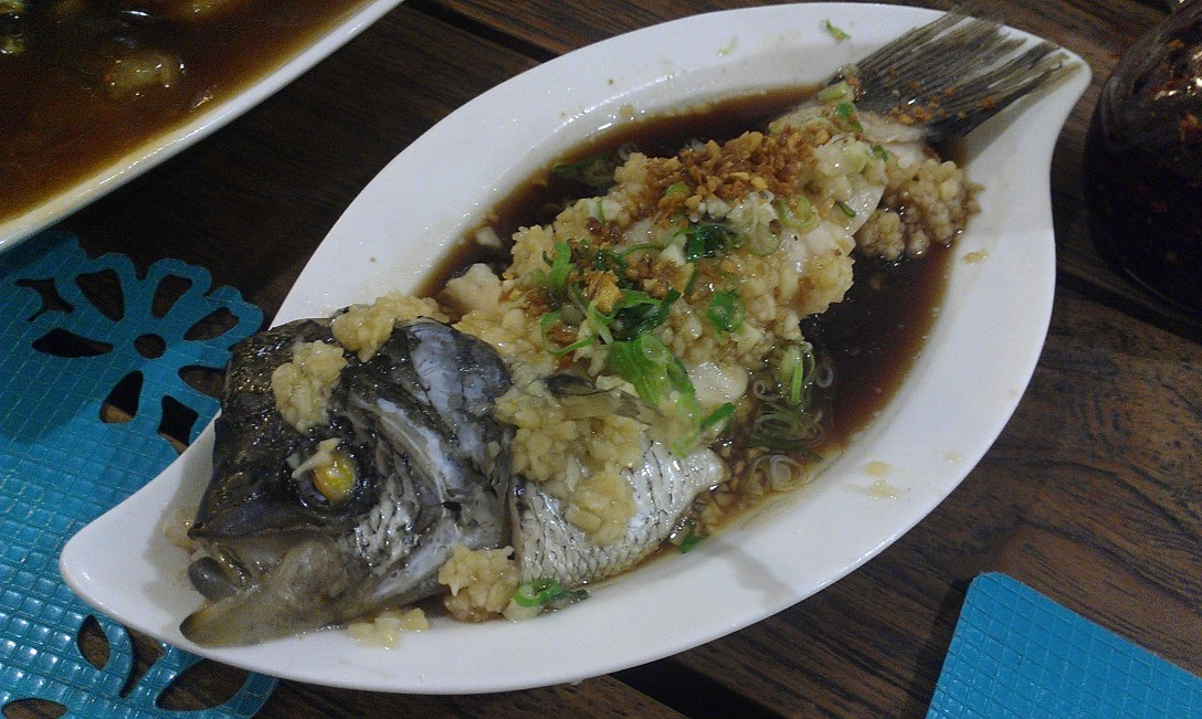 Steamed Fish with Garlic